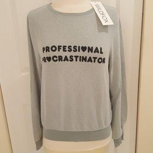 NWT Wildfox Professional Procrastinator Sweatshirt